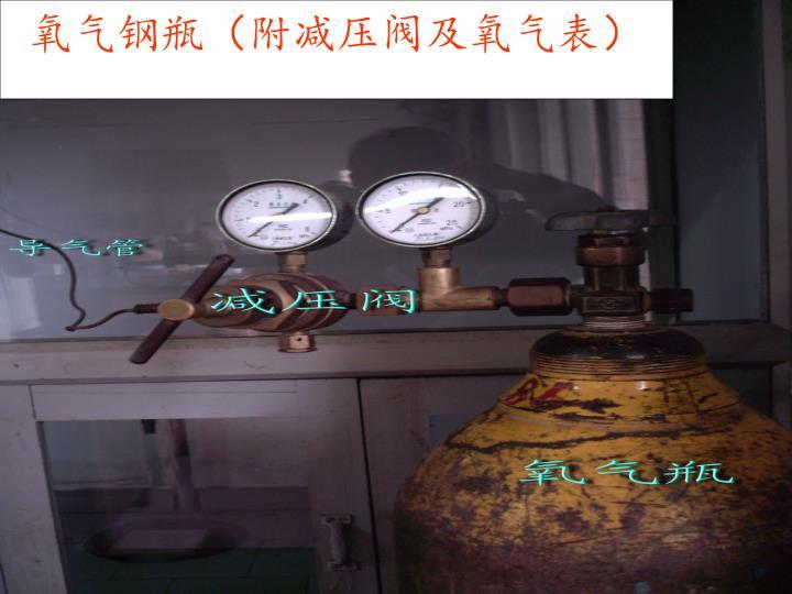 氧气钢瓶(附减压阀及氧气表)