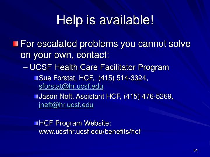 Help is available!