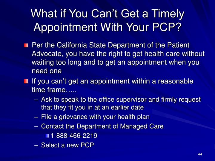 What if You Can't Get a Timely Appointment With Your PCP?