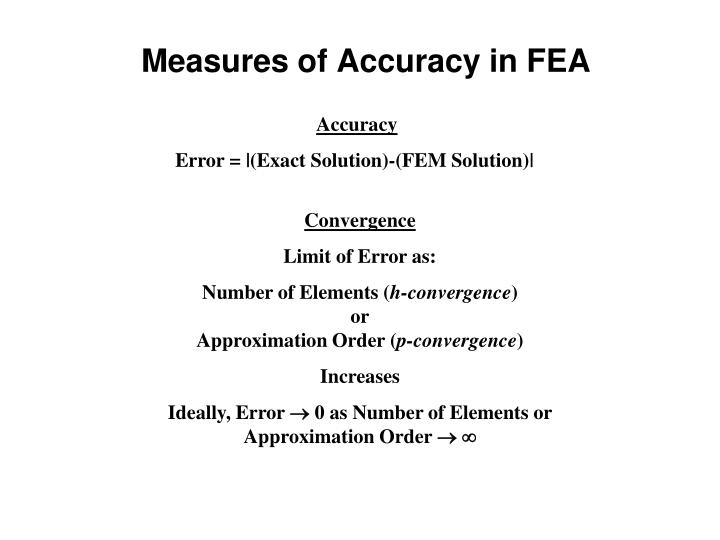 Measures of Accuracy in FEA