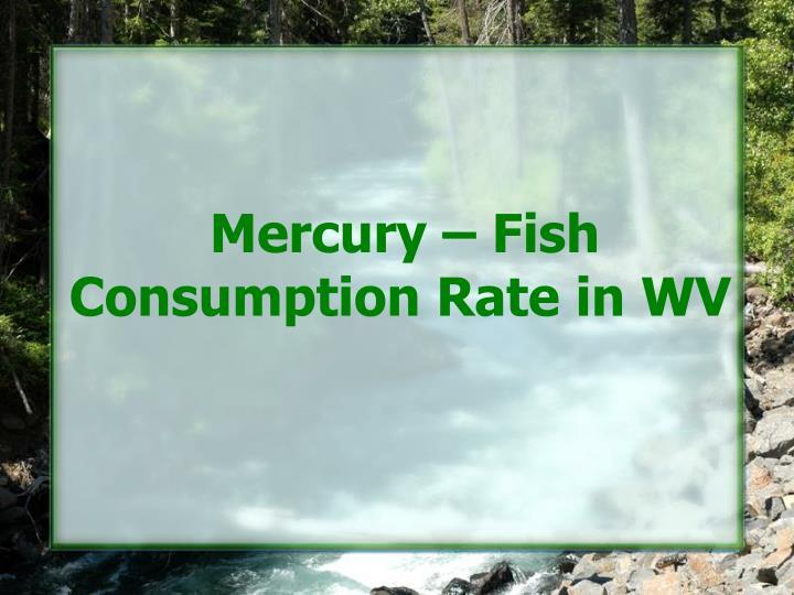 Mercury – Fish