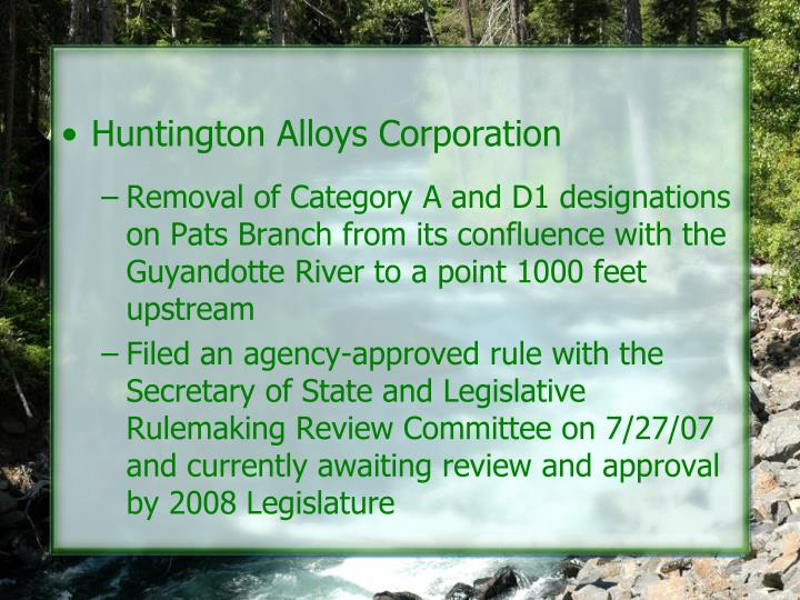 Huntington Alloys Corporation