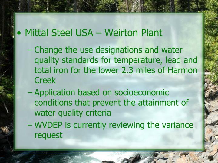 Mittal Steel USA – Weirton Plant