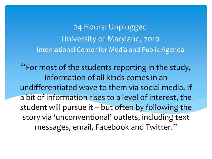 24 Hours: Unplugged