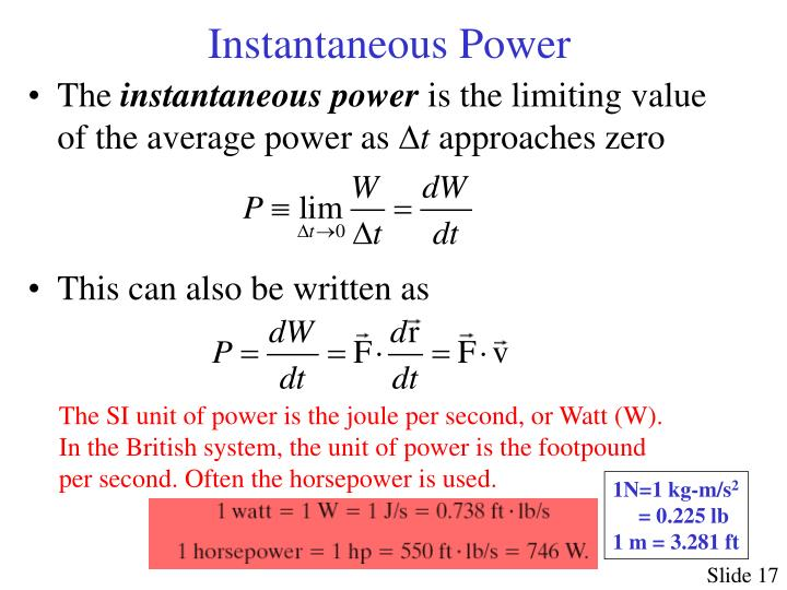 Instantaneous Power