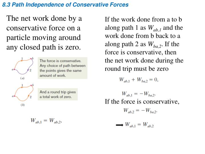 8.3 Path Independence of Conservative Forces