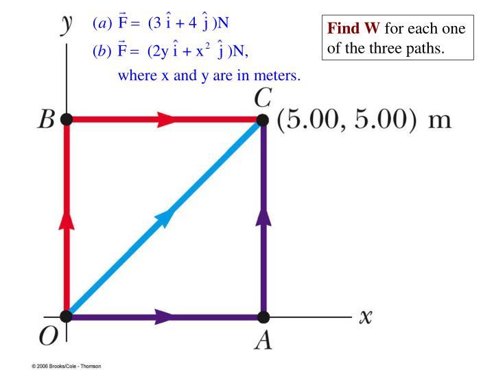 Find W