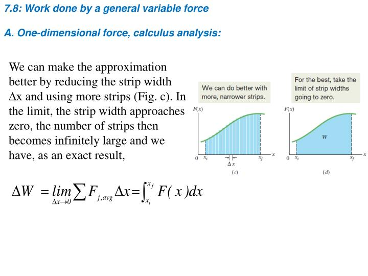 7.8: Work done by a general variable force
