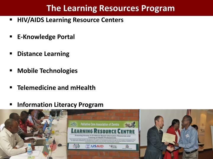 The Learning Resources Program
