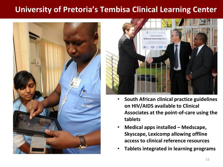 University of Pretoria's Tembisa Clinical Learning Center