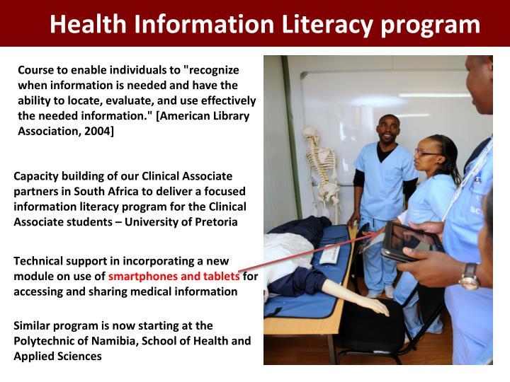 Health Information Literacy program
