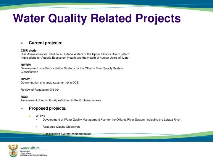 Water Quality Related Projects