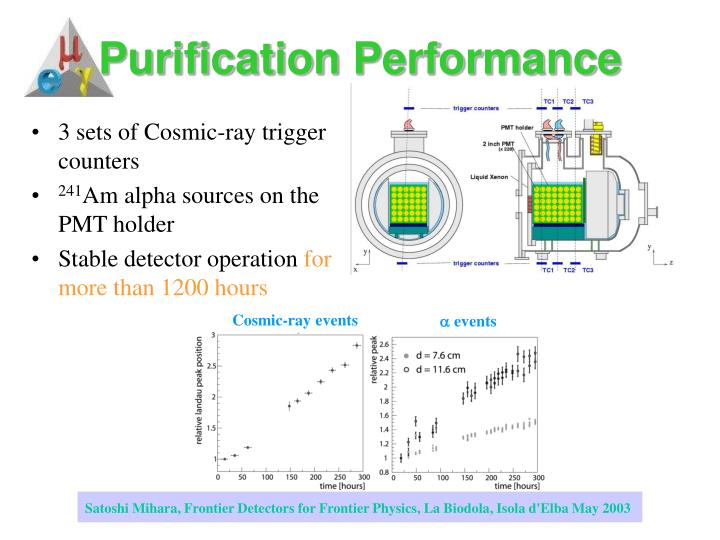 Purification Performance
