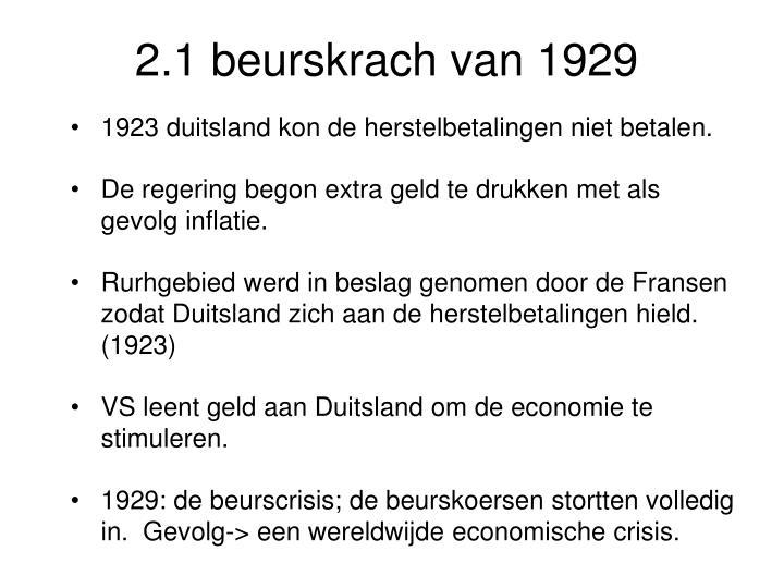 2.1 beurskrach van 1929