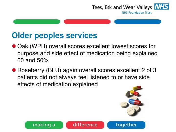 Older peoples services