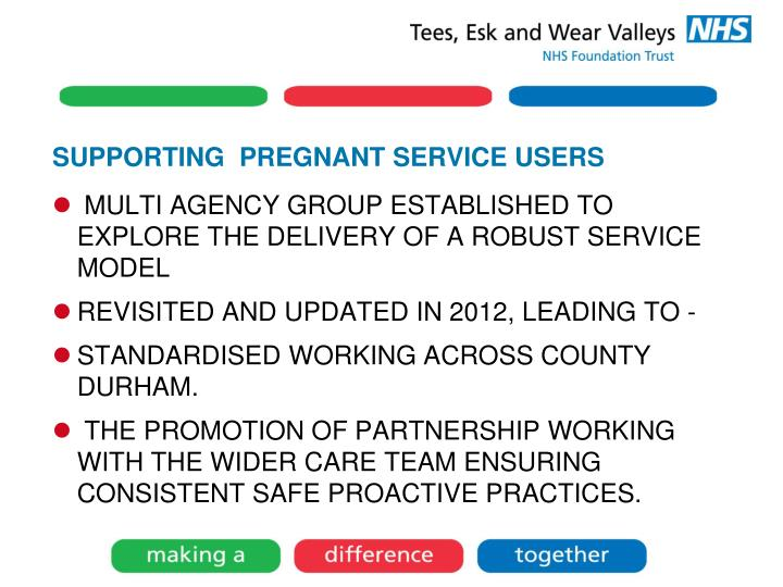 SUPPORTING  PREGNANT SERVICE USERS