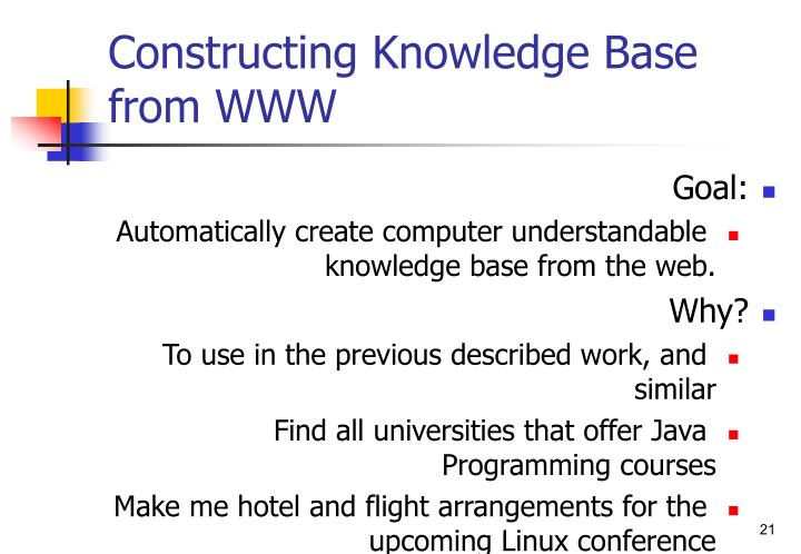 Constructing Knowledge Base from WWW