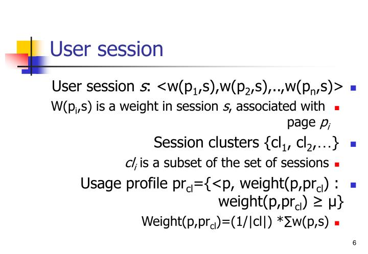 User session