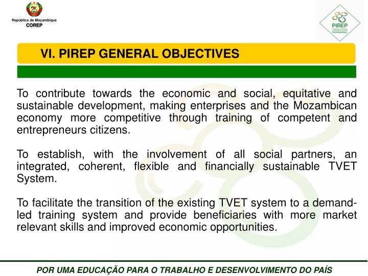 PIREP GENERAL OBJECTIVES