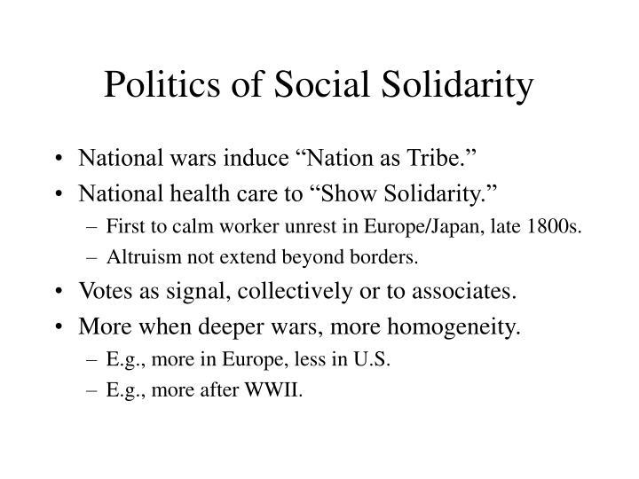 Politics of Social Solidarity