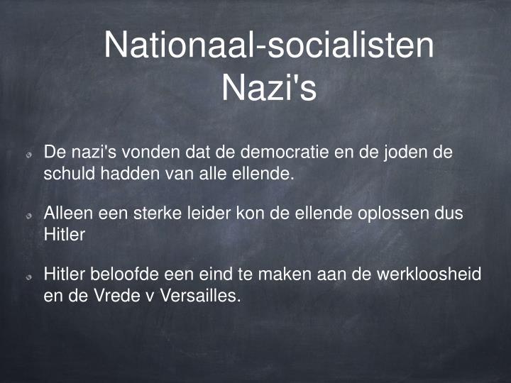 Nationaal-socialisten