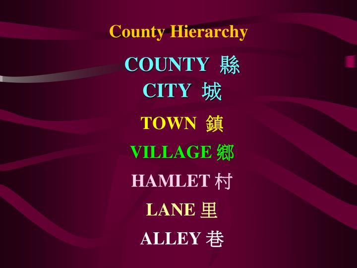 COUNTY