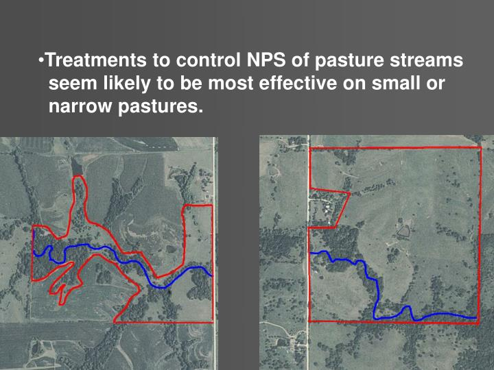 Treatments to control NPS of pasture streams