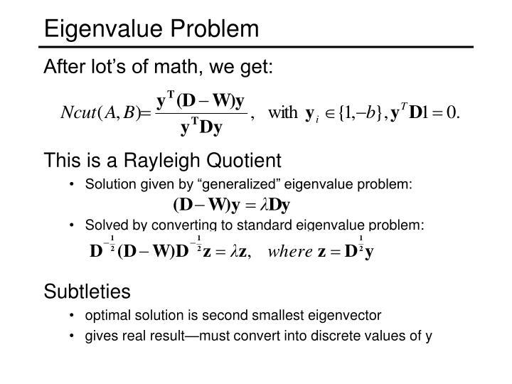 Eigenvalue Problem