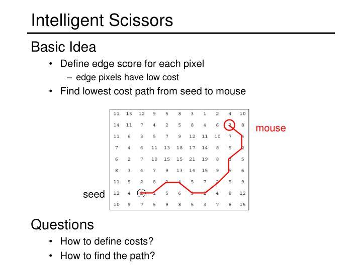 Intelligent Scissors