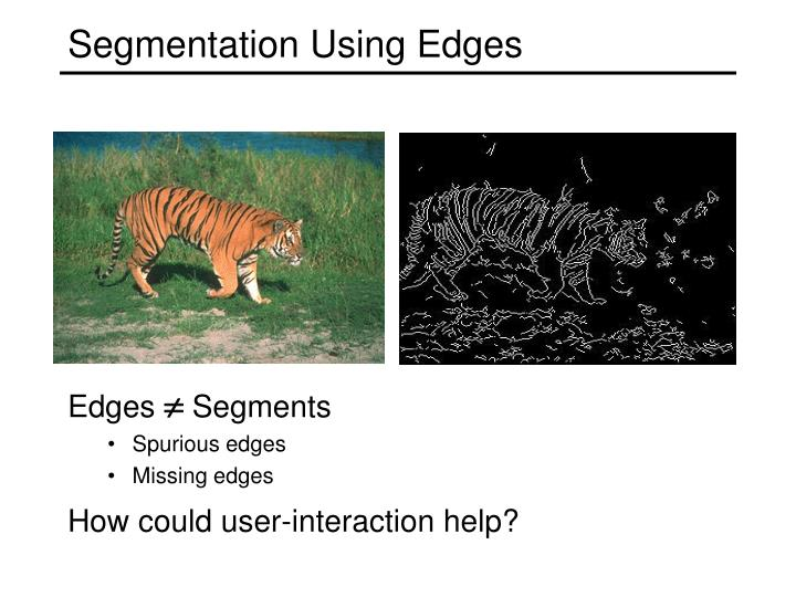 Segmentation Using Edges