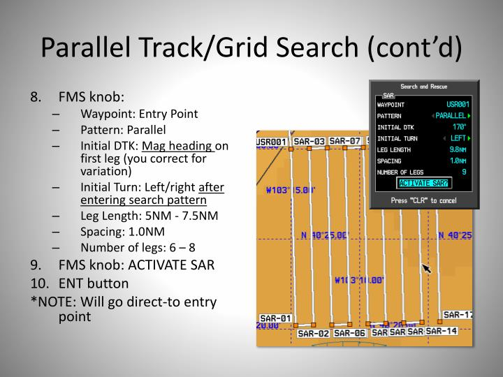 Parallel Track/Grid Search (cont'd)