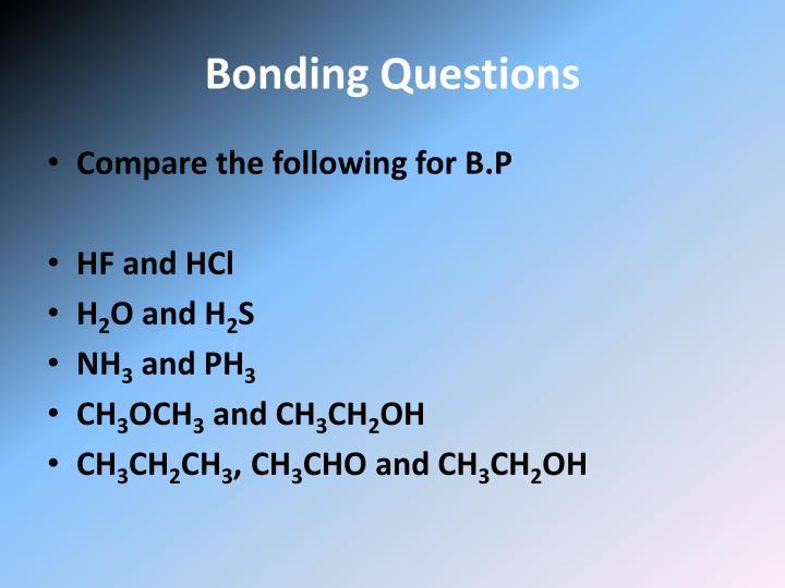 Bonding Questions