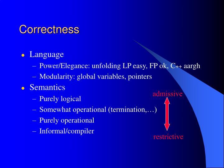 Correctness