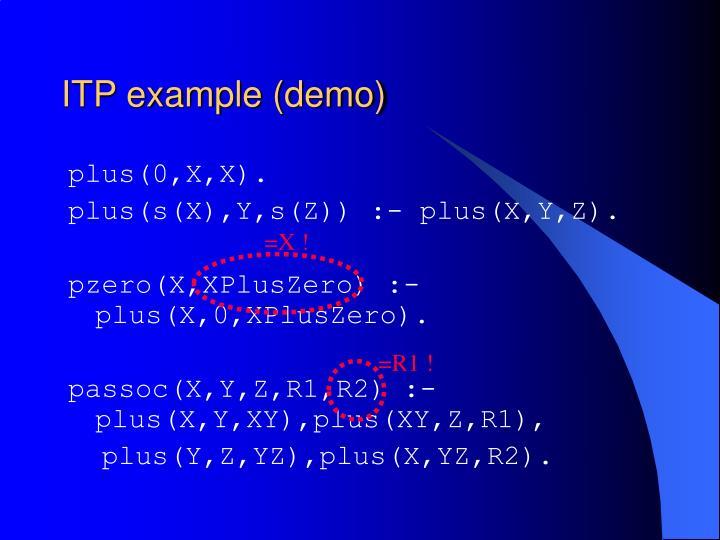 ITP example (demo)