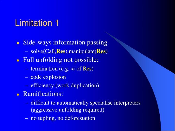 Limitation 1