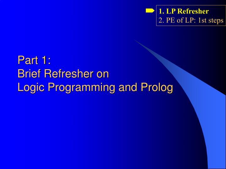 1. LP Refresher