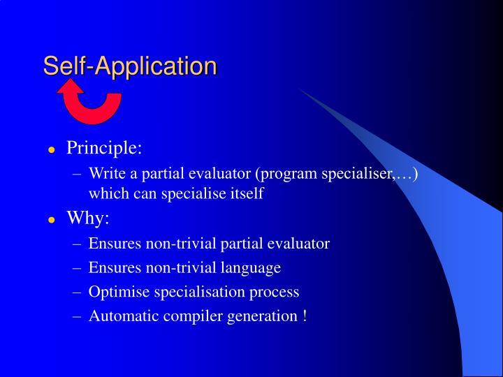 Self-Application