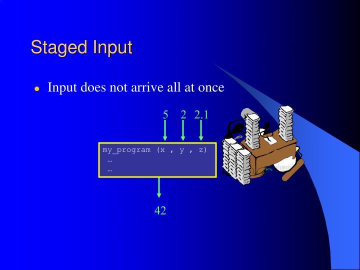 Staged Input