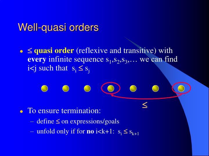 Well-quasi orders