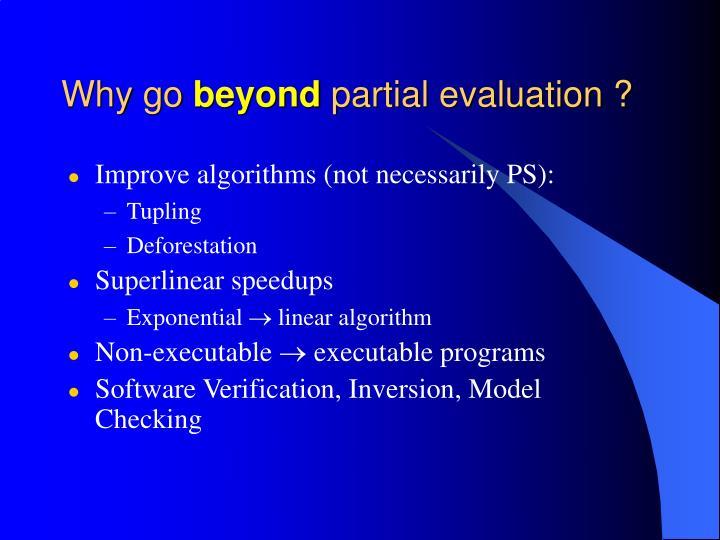 Improve algorithms (not necessarily PS):