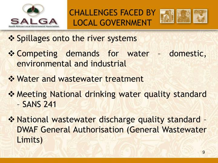 CHALLENGES FACED BY LOCAL GOVERNMENT