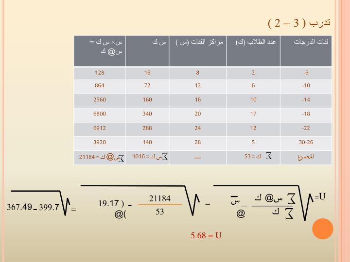 تدرب ( 3 – 2 )
