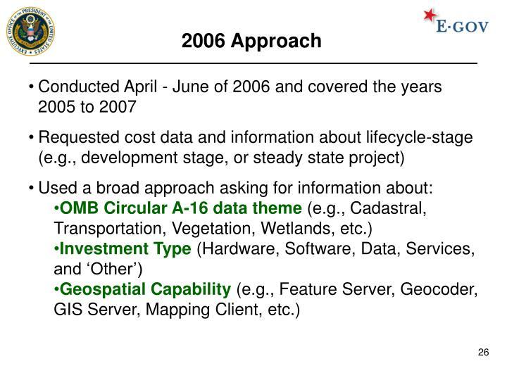2006 Approach