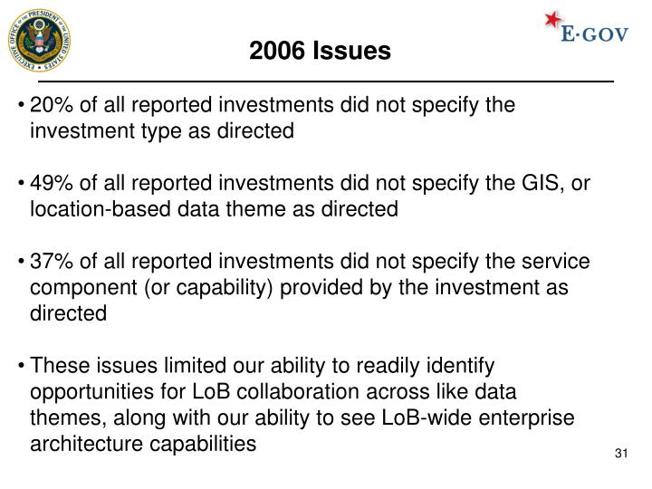 2006 Issues