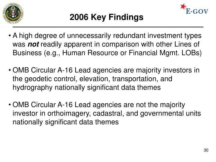 2006 Key Findings