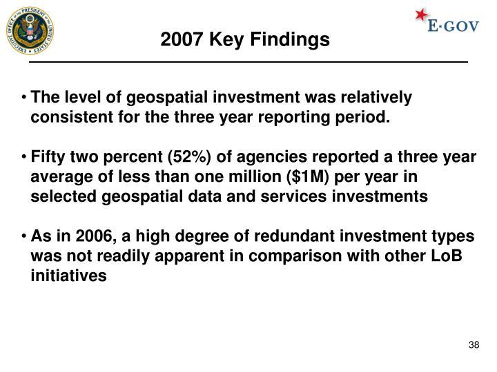 2007 Key Findings