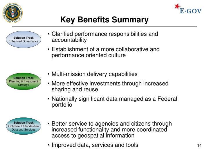 Key Benefits Summary