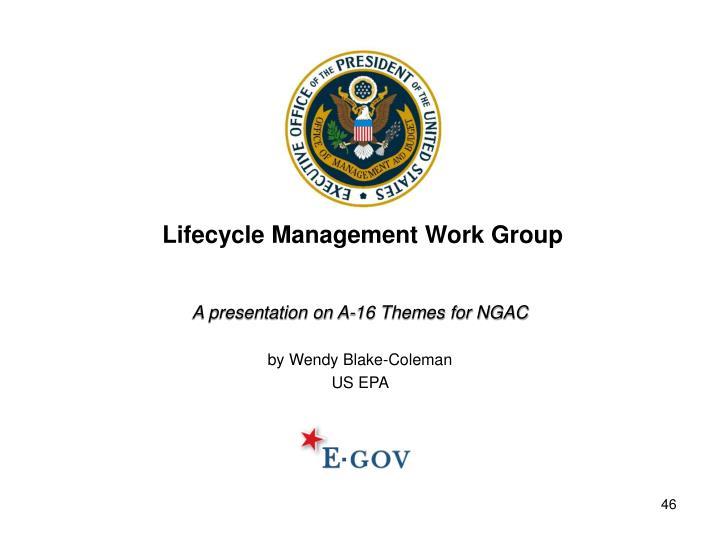 A presentation on A-16 Themes for NGAC