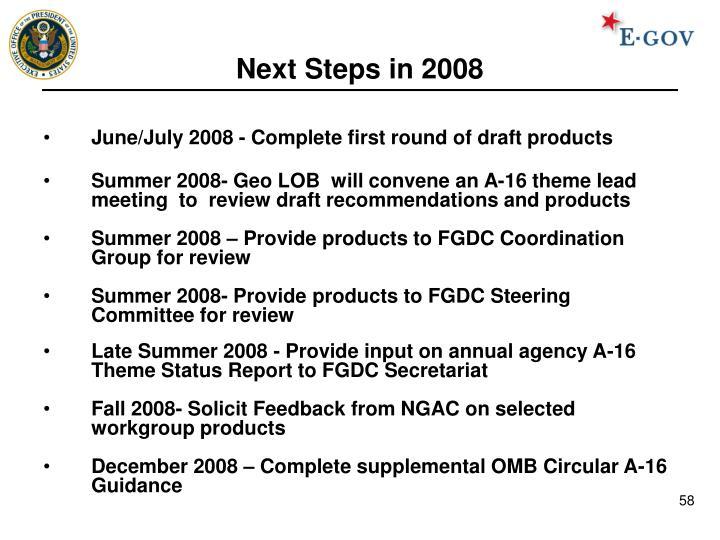 Next Steps in 2008