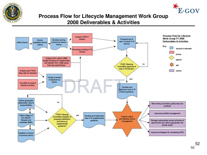 Process Flow for Lifecycle Management Work Group